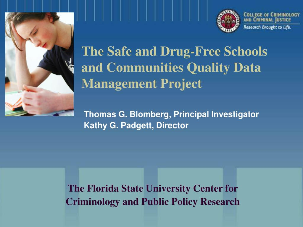 the safe and drug free schools and communities quality data management project l.