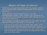 basics of hair evidence