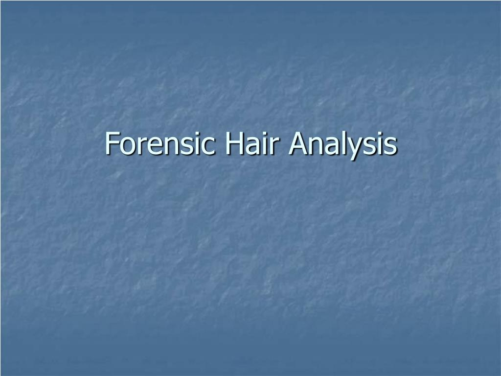 forensic hair analysis l.
