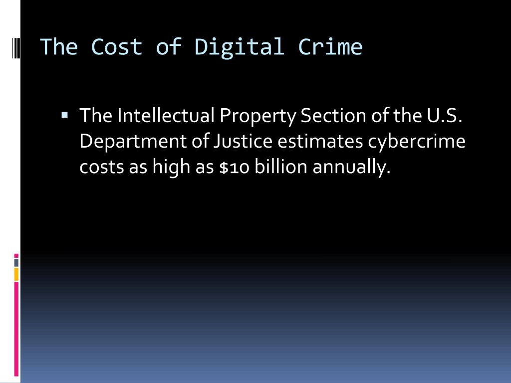 The Cost of Digital Crime