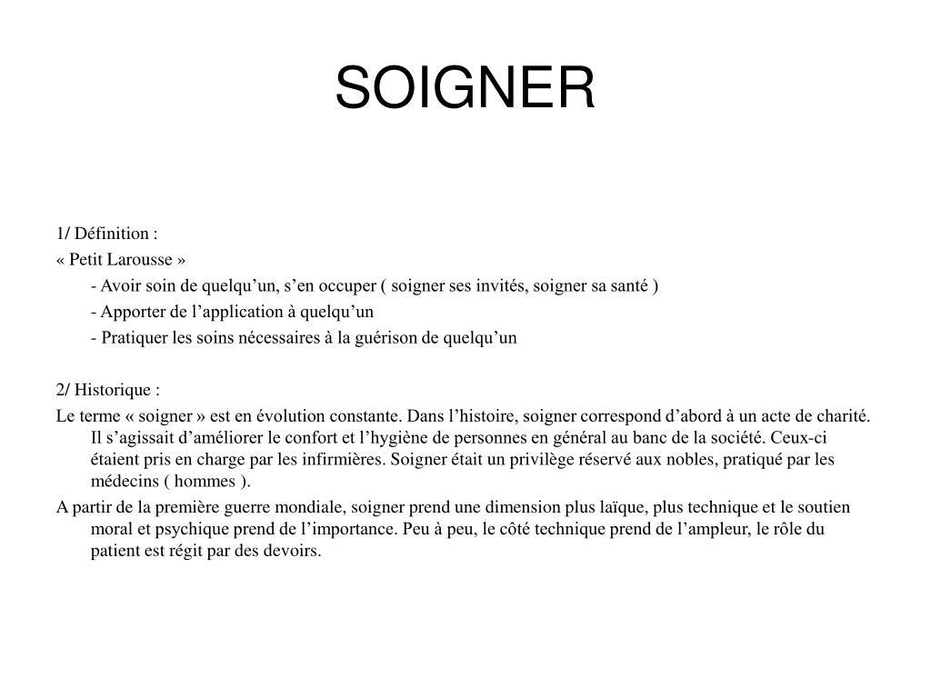 SOIGNER