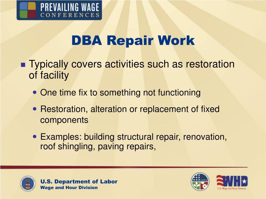 DBA Repair Work