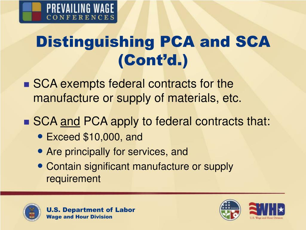 Distinguishing PCA and SCA (Cont'd.)