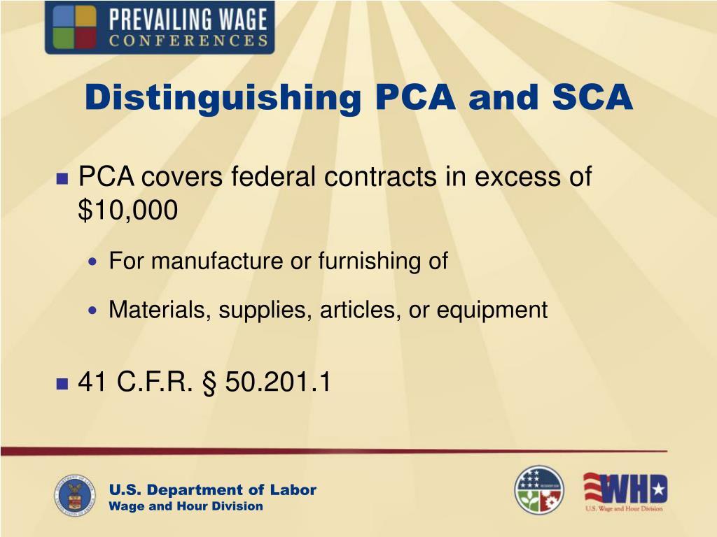 Distinguishing PCA and SCA