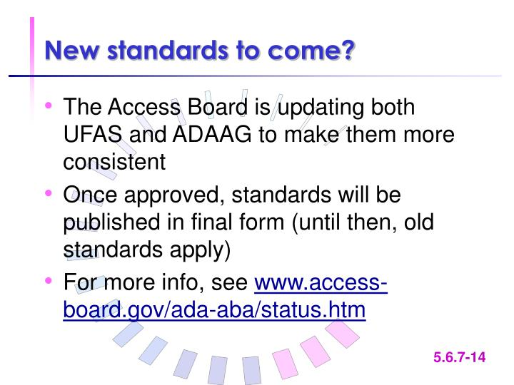 New standards to come?