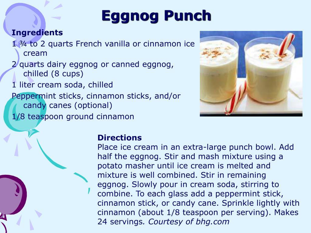 eggnog punch l.