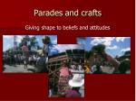 parades and crafts