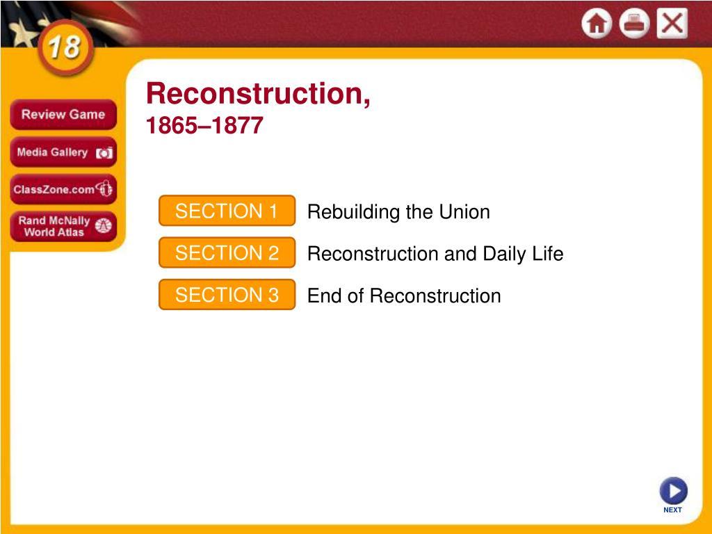 Reconstruction,