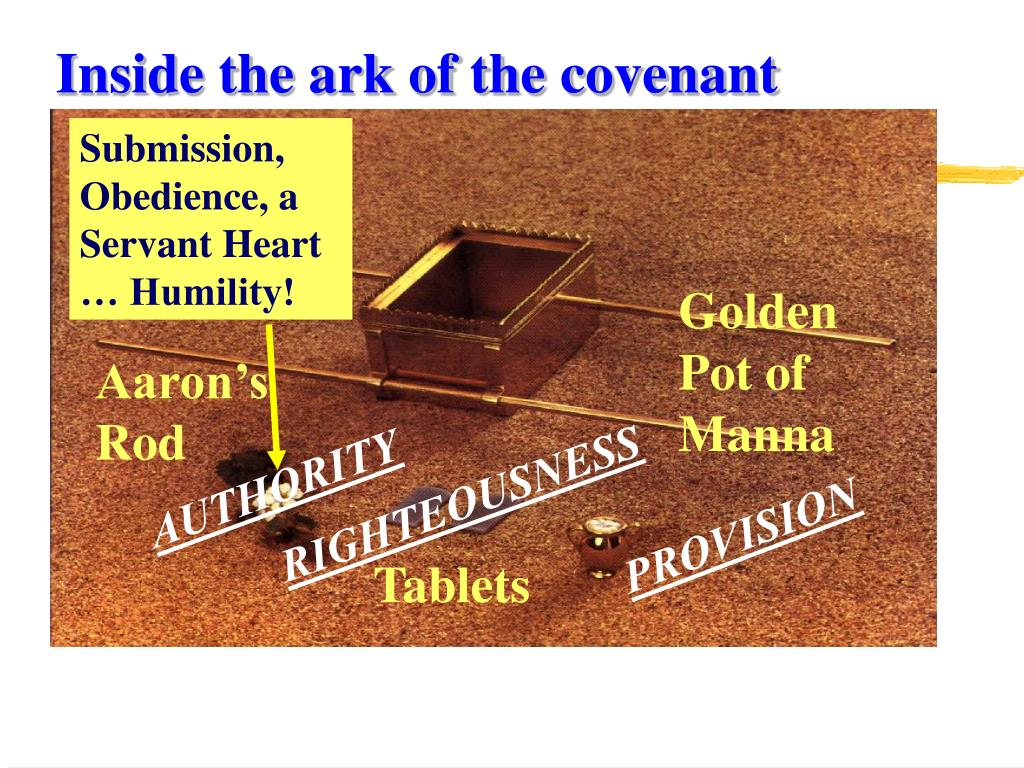 Inside the ark of the covenant