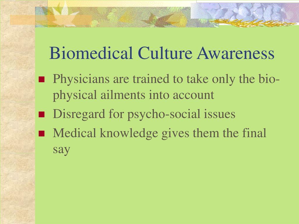 Biomedical Culture Awareness