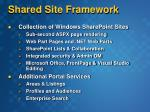 shared site framework