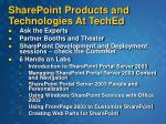 sharepoint products and technologies at teched