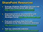sharepoint resources