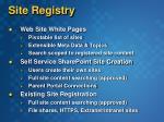 site registry