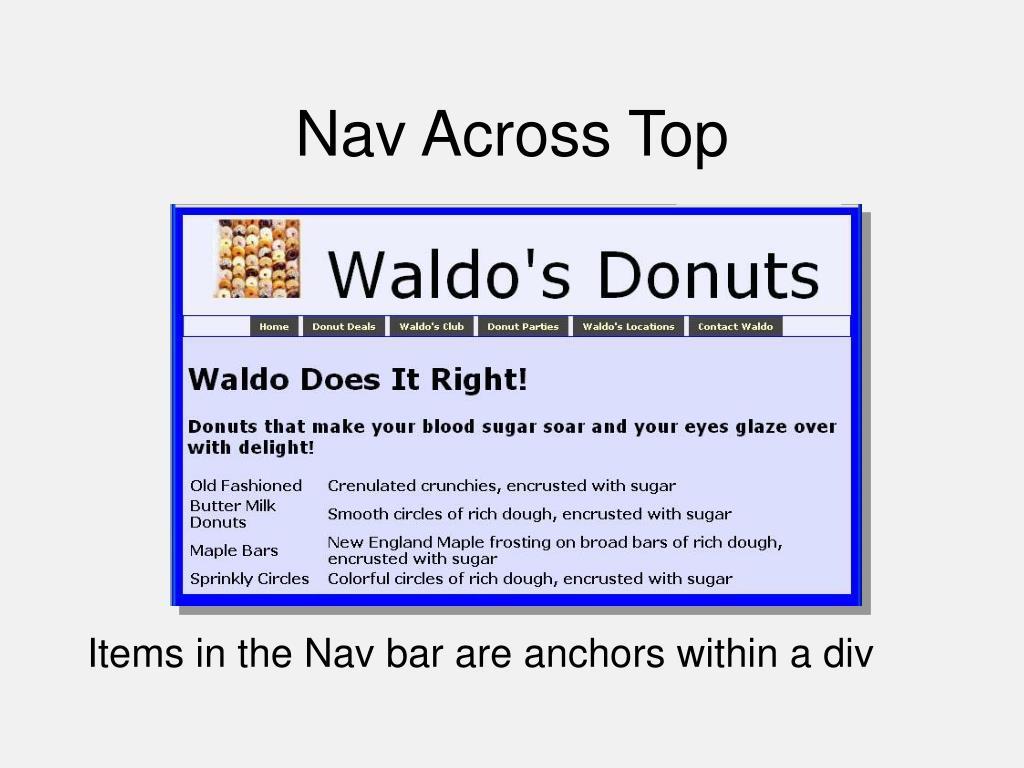 Nav Across Top