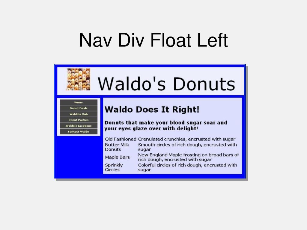 Nav Div Float Left