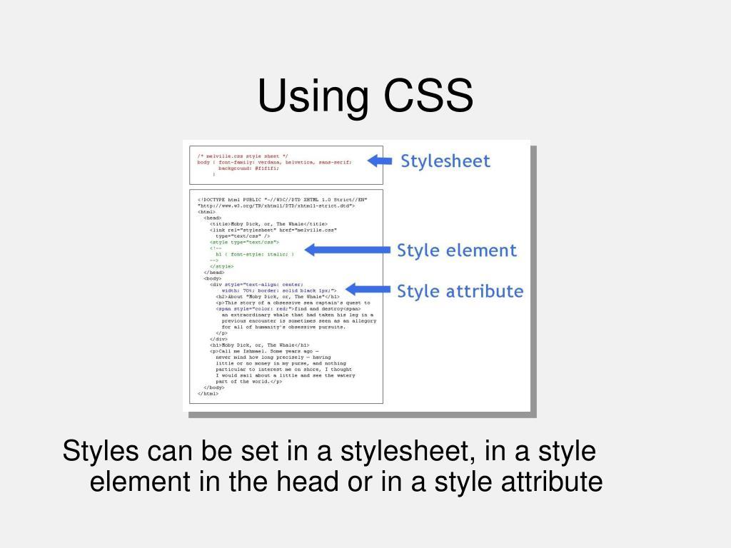 Using CSS
