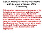 explain america s evolving relationship with the world at the turn of the 20th century