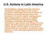 u s actions in latin america