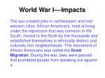 world war i impacts