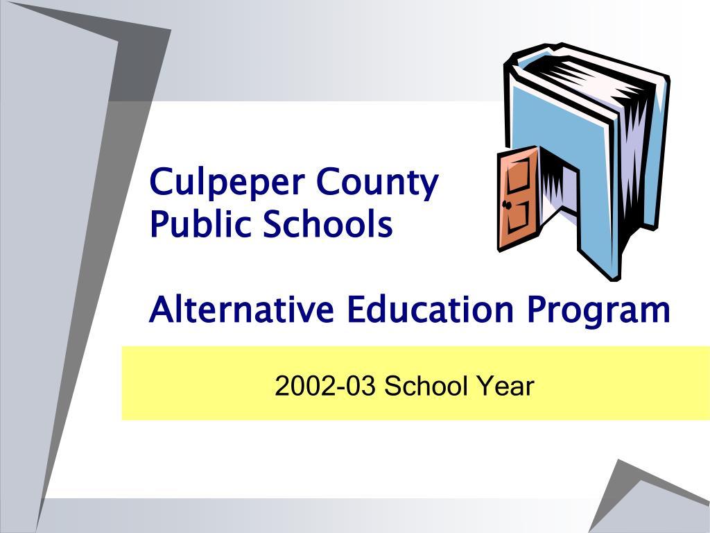 culpeper county public schools alternative education program l.