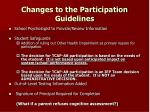 changes to the participation guidelines