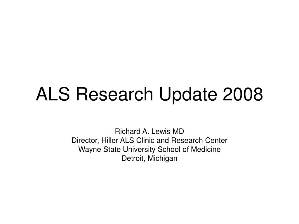 als research update 2008 l.