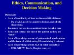 ethics communication and decision making