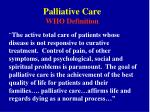 palliative care who definition