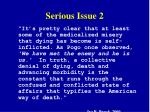 serious issue 2