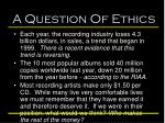 a question of ethics