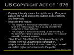us copyright act of 1976