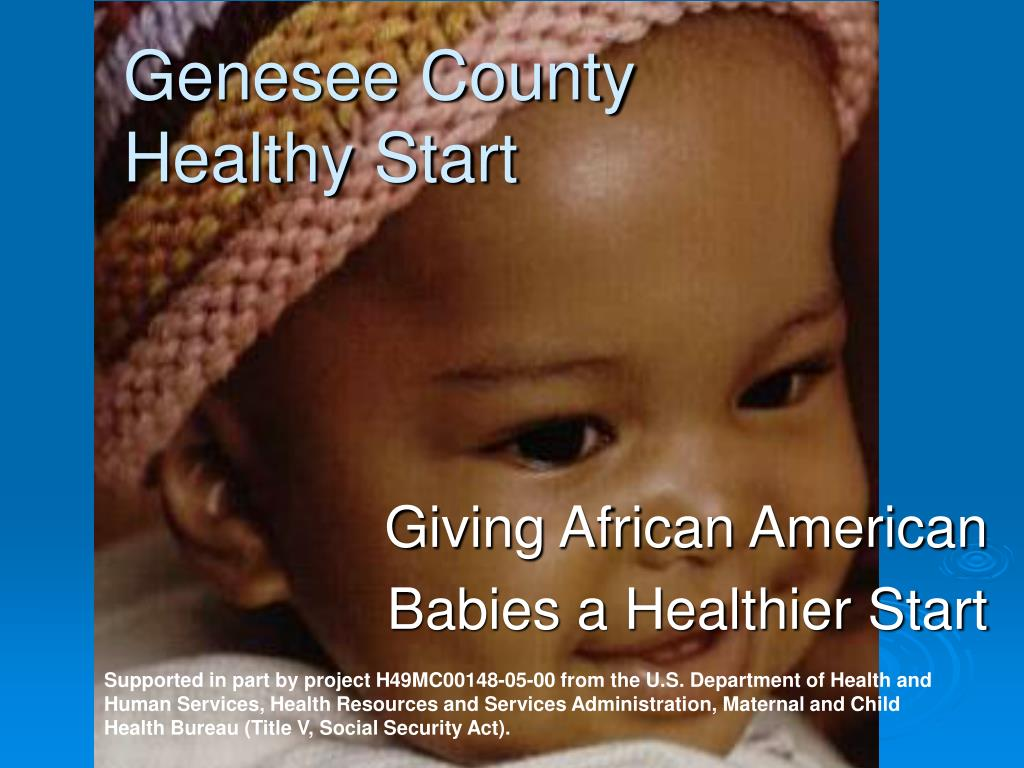 giving african american babies a healthier start l.