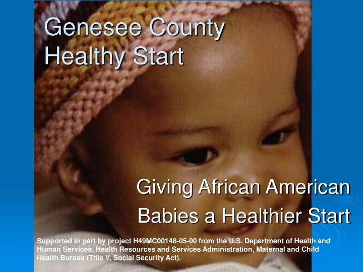 Giving african american babies a healthier start