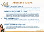 about the tutors