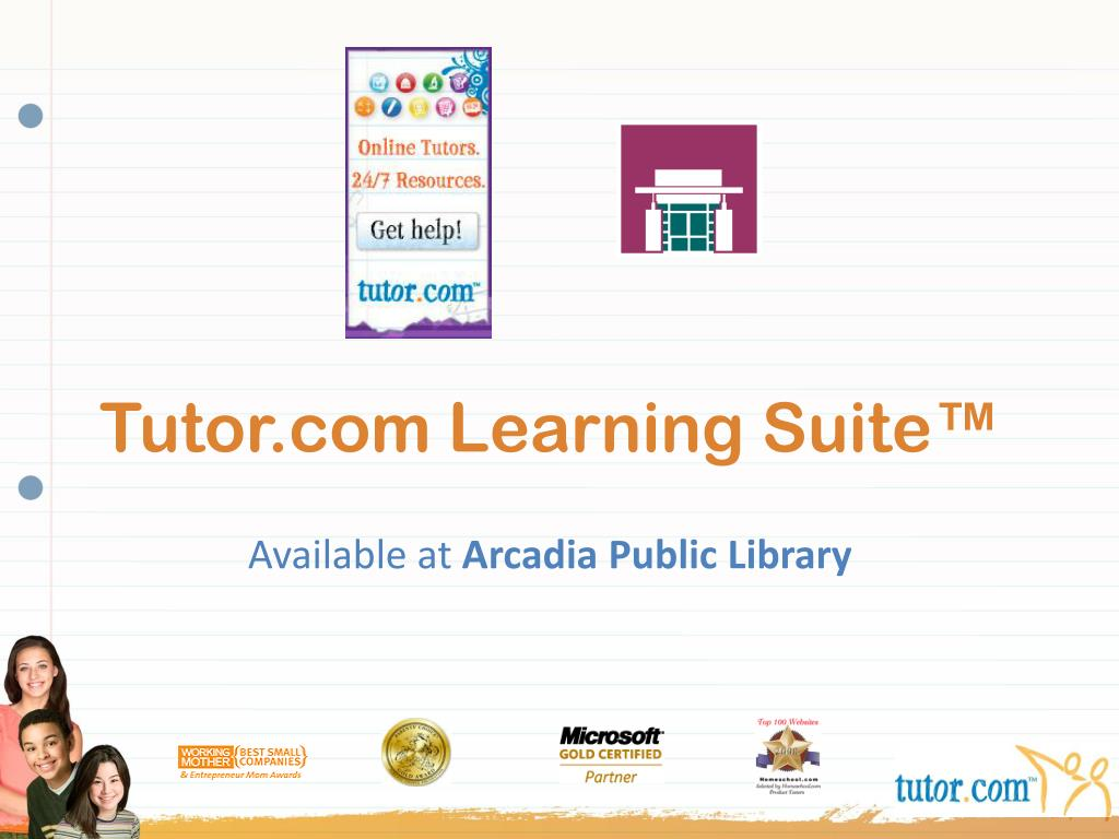 tutor com learning suite l.