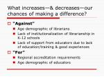 what increases decreases our chances of making a difference