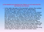 latin ammerican immigration trends in the washington metropolitan region