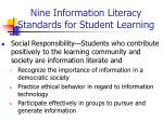nine information literacy standards for student learning27