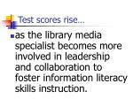 test scores rise11