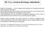 iii 2 la variation floristique altitudinale