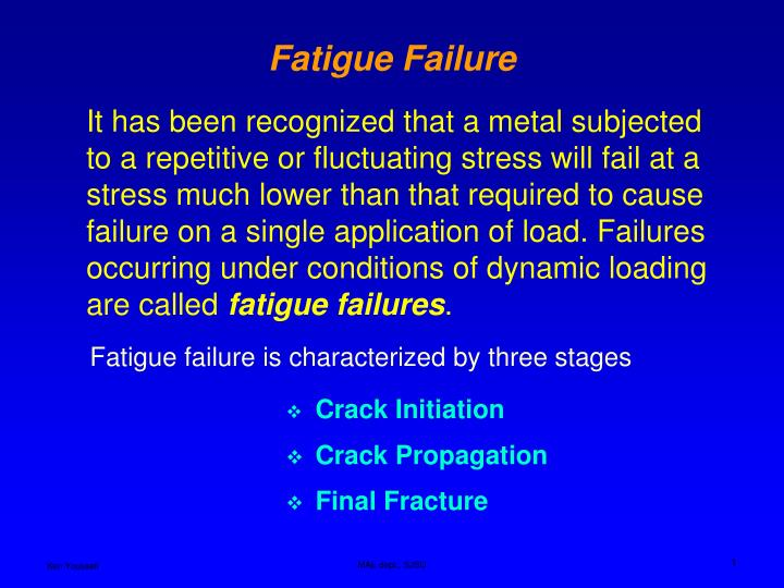 fatigue failure n.
