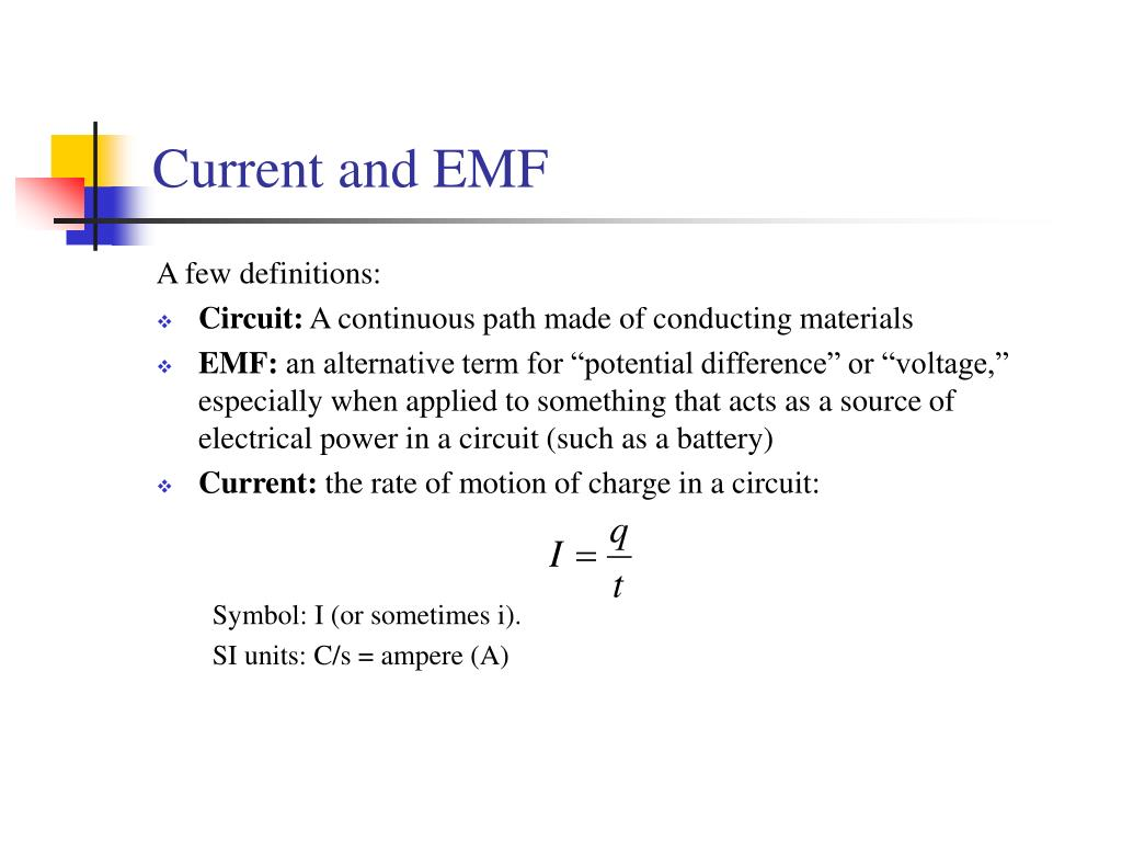 Current and EMF