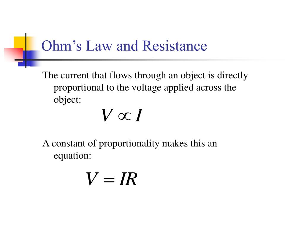 Ohm's Law and Resistance