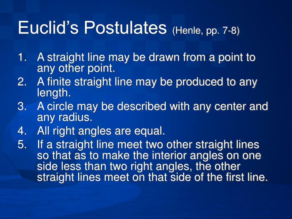 Euclid's Postulates