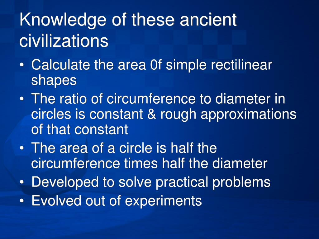 Knowledge of these ancient civilizations