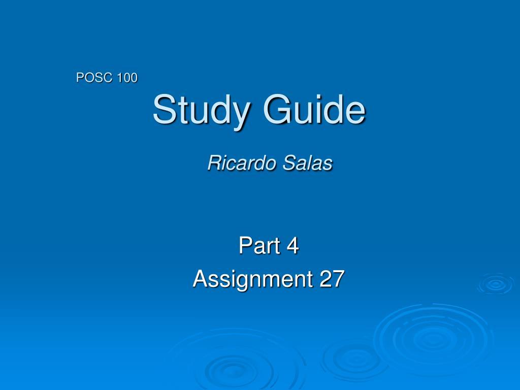 posc 100 study guide ricardo salas l.