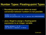 number types floating point types