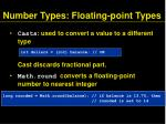 number types floating point types9