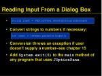 reading input from a dialog box56